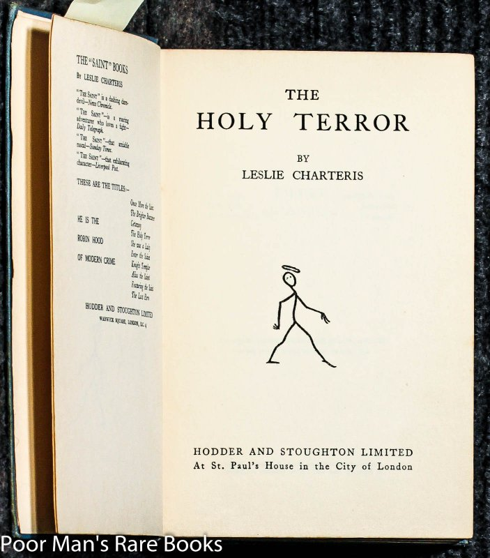 Image for The Holy Terror [the Saint Inscribed And Signed By Author]