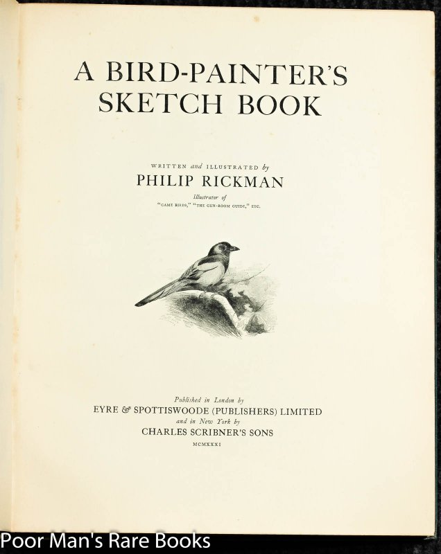 Image for A Bird-painter's Sketch Book [ Limited Signed Drawing]