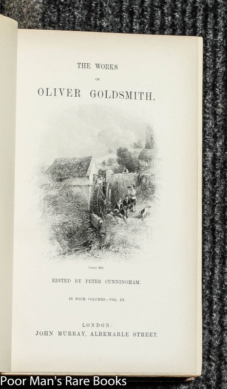 Image for Goldsmith (oliver) The Works Of, 4 Vol Ct