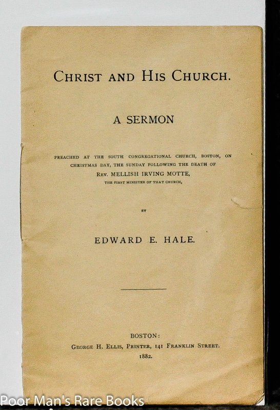 Image for Christ And His Church, A Sermon: A Congregational Church, A Sermon