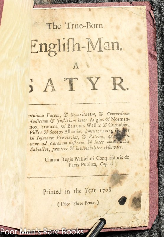 Image for The True-born English-man: A Satyr [pamphlet]