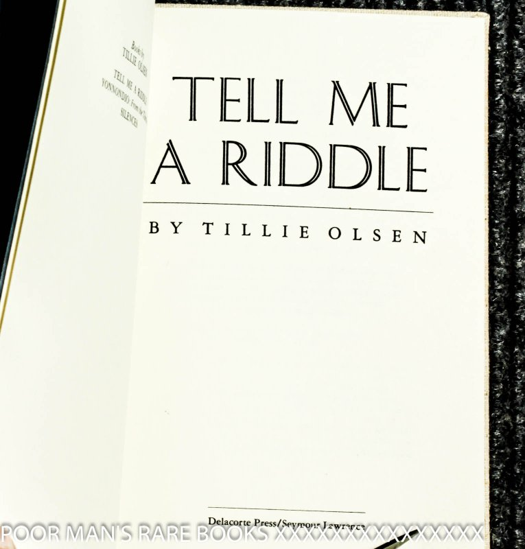 Image for Tell Me A Riddle [signed Limited Edition]