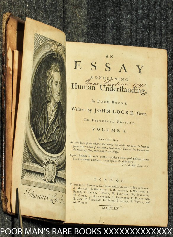 john locke an essay concerning human understanding book 3 summary An essay concerning human understanding is a work by john locke concerning the foundation of human knowledge and understanding.