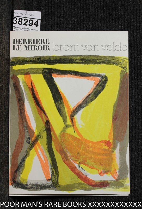 Image for Derriere Le Miroire #216 November 1975 Two 2 Page Lithos Bram Van Velde
