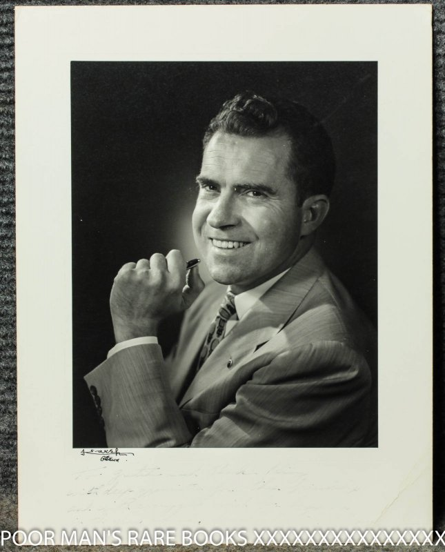 Image for Signed 9.5 X 7.5 Portrait Of Dick Nixon Circa 1959