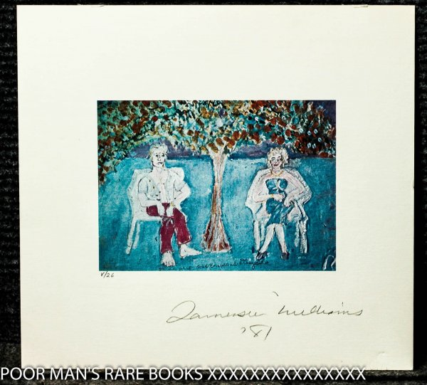 Image for Limited Edition Color Lithograph Pencil Signed Tennessee Williams And Dated '81