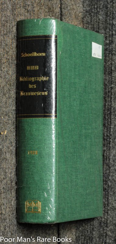 Image for Bibliographie Des Brauwesens [ Limited Edtition Facsimile]