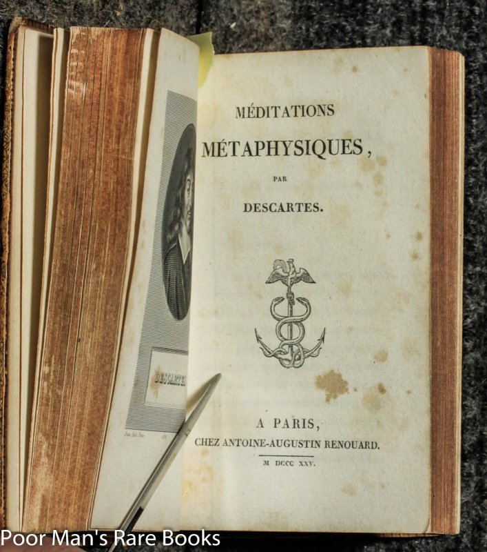 Image for 2 Vols In One- La Methode [1824] And Meditations Metaphysiques [1825]