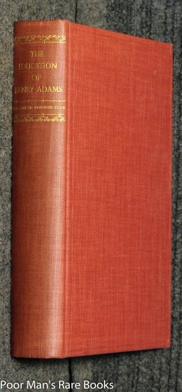 Image for The Education Of Henry Adams An Autobiography [limited Edition Club}