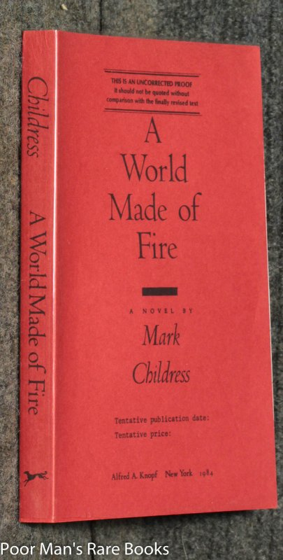 Image for A World Made Of Fire [ Uncorrected Proof]