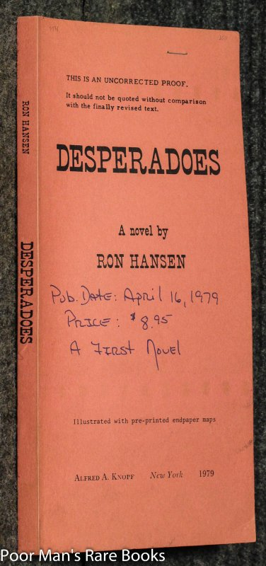 Image for Desperadoes Uncorrected Proof: : Crime