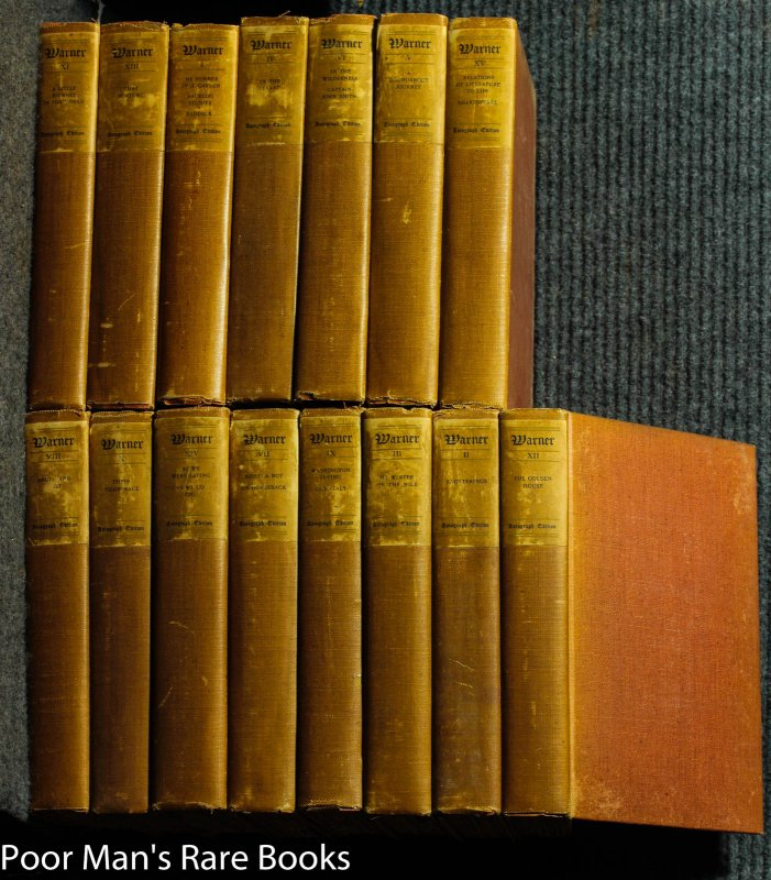 Image for Complete Writings Of Charles Dudley Warner ( In 15 Volumes ) Autograph Edition