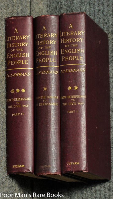 Image for A Literary History Of The English People From The Origins To The Renaissance...civil War [complete In 3 Volumes]