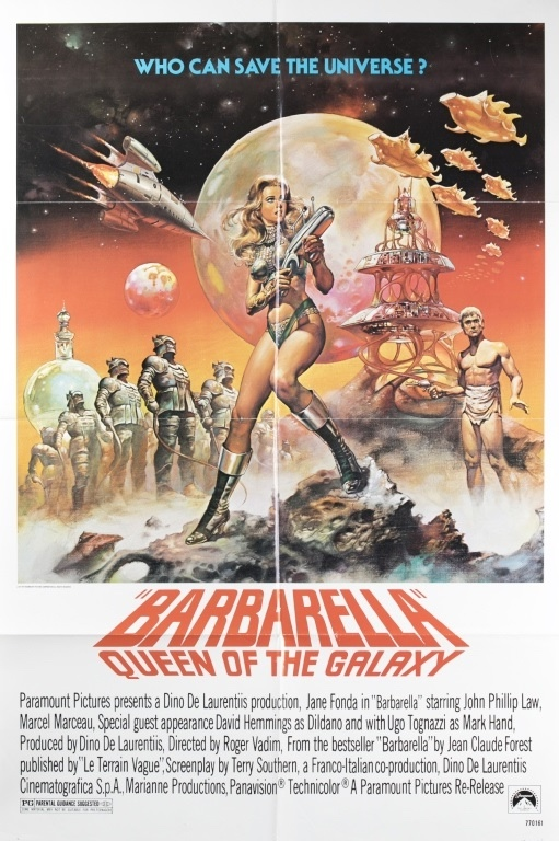 "Image for Barbarella: Queen Of The Galaxy. ( Movie Poster, One-sheet 41"" X 27"" LBC"