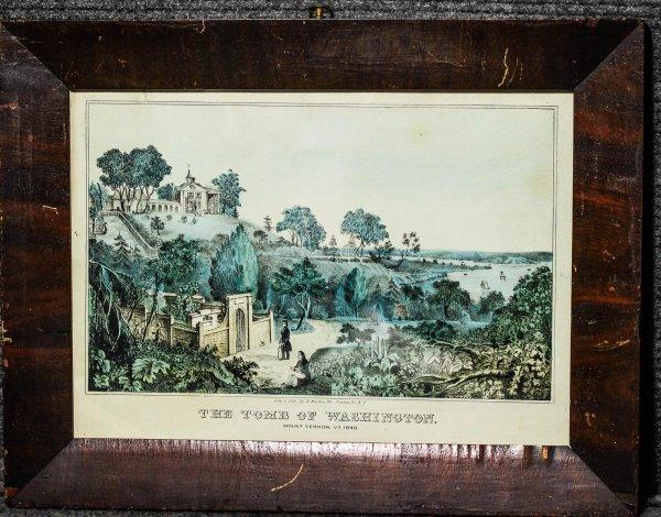 Image for The Tomb Of Washington. Mount Vernon, Va Lithograph Framed