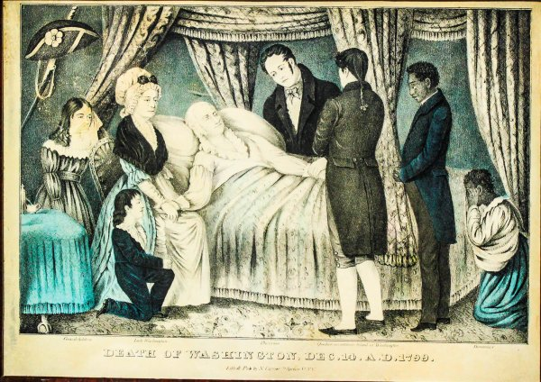 "Image for Lithograph. Currier, Nathaniel, ""Death Of Washington, Dec. 14. A.d. 1799 Variant With Domestics On Right"