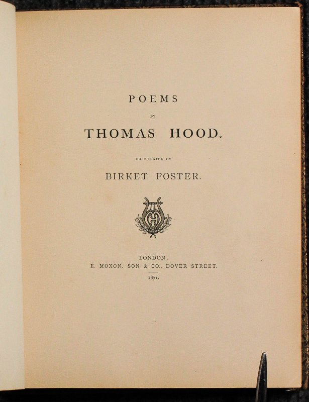 Image for Poems By Thomas Hood Illustrated By Birket Foster.
