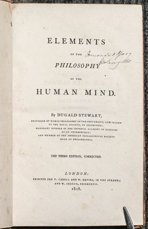 Image for Elements Of The Philosophy Of The Human Mind.