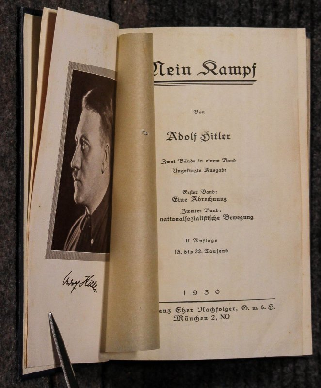 Image for Mein Kampf [youthful Hitler Photo Frontispiece] Neb