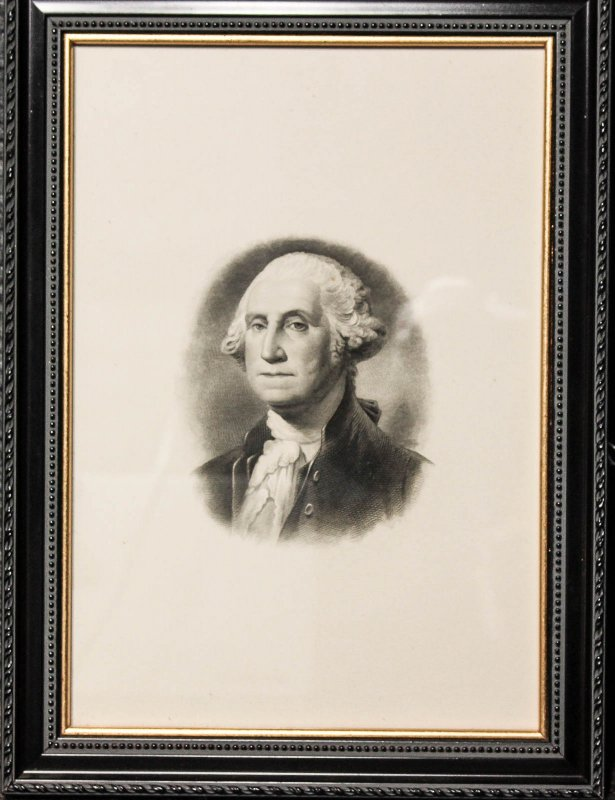 Image for Engraved Portrait Of George Washington Ca 1800