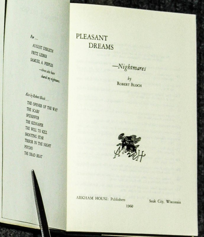 Image for Pleasant Dreams - Nightmares [signed By Bloch]
