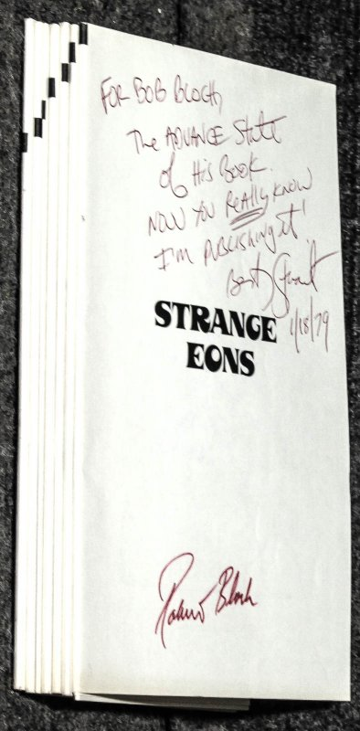 Image for Strange Eons Advance State Of Galleys [signed By Author With Comment]