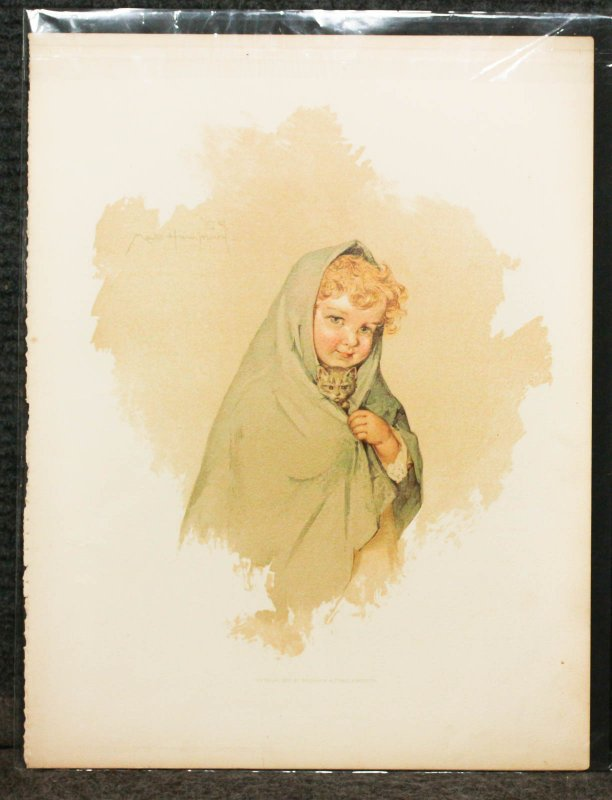 Image for Maud Humphrey 4 Lithographic Colored Plate Pieces. Baby Sweetheart Series.