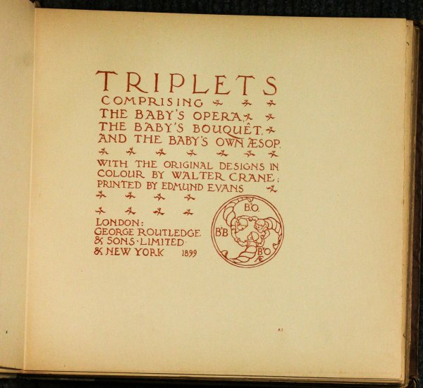 Image for Triplets Comprising The Baby's Opera; The Baby's Bouquet; The Baby's Own Aesop 1899