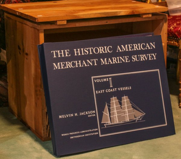 Image for The Historic American Merchant Marine Survey 7 Volumes Complete In Original Wooden Case