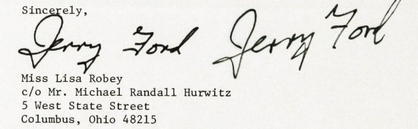 Image for President Ford Typed Letter Signed With Both Autopen And Genuine Signature