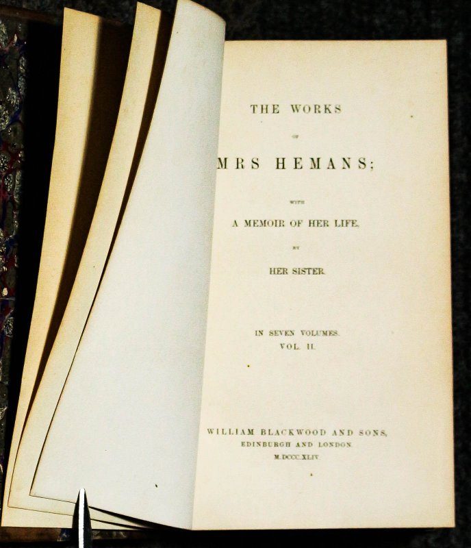 Image for The Works Of Mrs Hemans With A Memoire Of He Life By Her Sister[vols 2-3-4 Of 7 Vols]