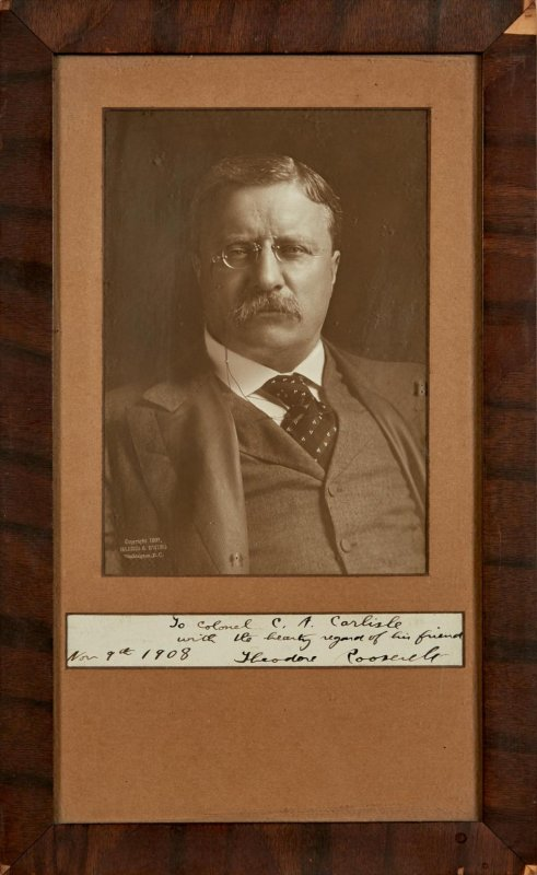 Image for Roosevelt, Theodore Photograph Signed And Inscribed As President.