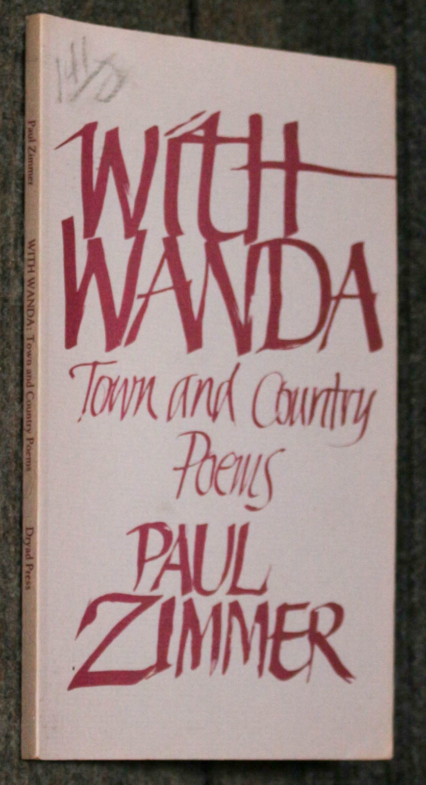 Image for With Wanda, Town And Country Poems [signed By Author]