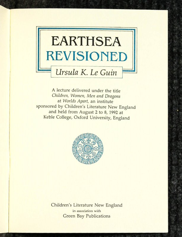 Image for Earthsea Revisioned, Women's Studies: : Fantasy: : Science Fiction