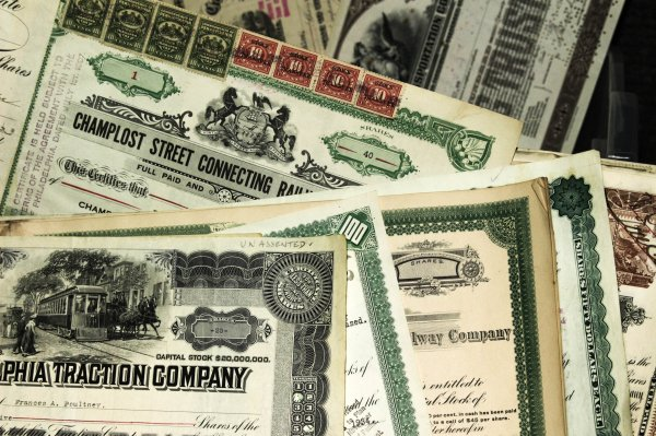 Image for Lot Of About 50 Bonds And Stock Certificates 1880 To 1953