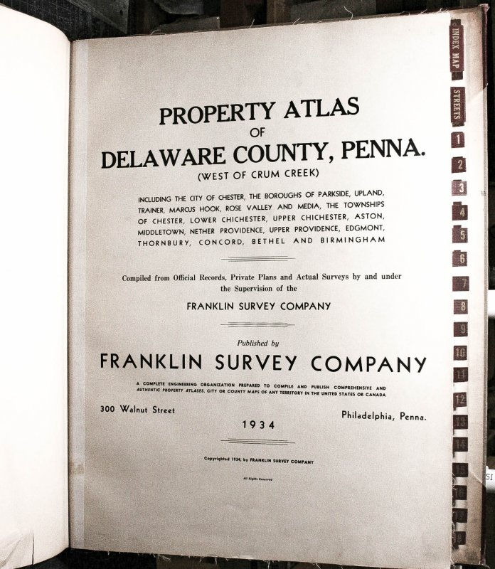 Image for Property Atlas Of Delaware County Penna. West Of Crum Creek 1934