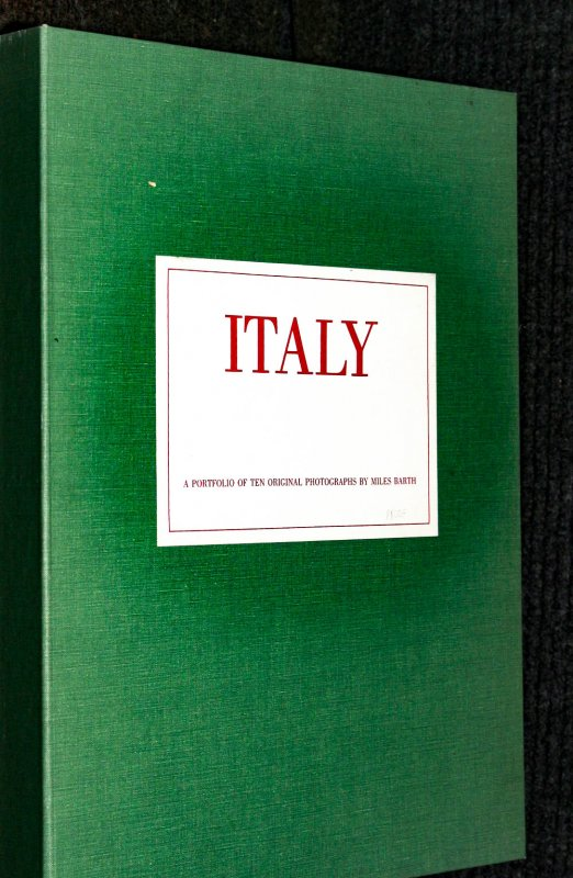 Image for Miles Barth Italy A Portfolio Of Ten Original Photographs With Manuscript LBC
