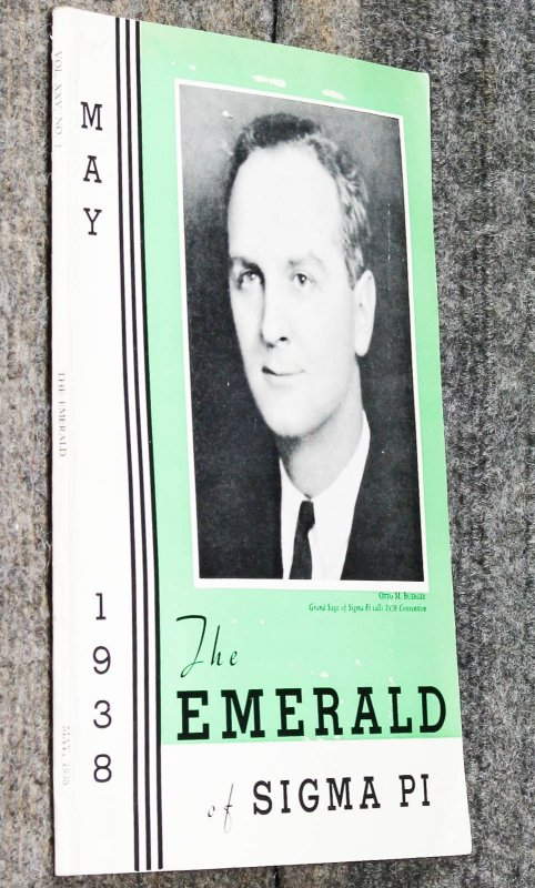 Image for The Emerald Of Sigma Pi May 1938 [ Lincolnana]