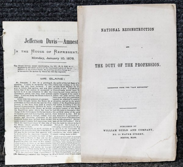 Image for Jefferson Davis---amnesty And National { Lincolniana} Reconstruction And The Duty Of The Profession Two Extracts