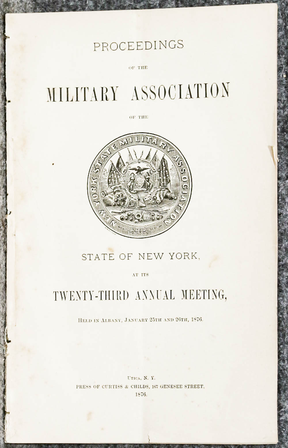 Image for Proceedings Of The Military Association Of The State Of New York At Its Twenty- Third Annual Meeting 1876- Extract