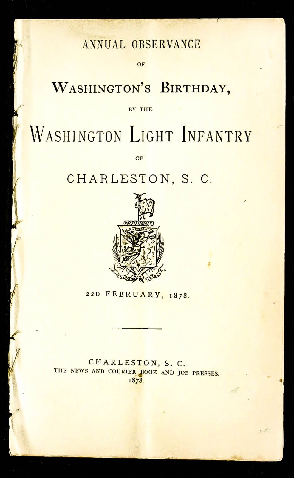 Image for Annual Observance Of Washington's Birthday 1878