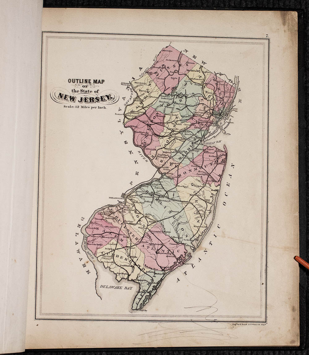 Image for Hopkins, G. M.combined Atlas Of The State Of New Jersey And The City Of Newark From Actual Survey, Official Records & Private Plans 1873