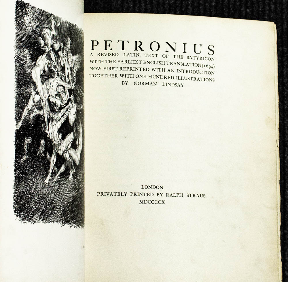 Image for [signed Books] Petronius: A Revised Latin Text Of The Satyricon With The Earliest English Translation (1694)