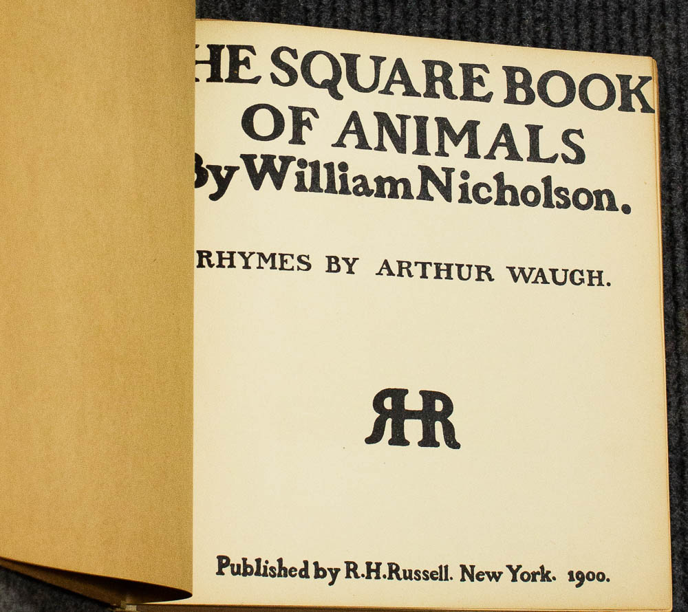 Image for The Square Book Of Animals. Rhymes By Arthur Waugh [1900]