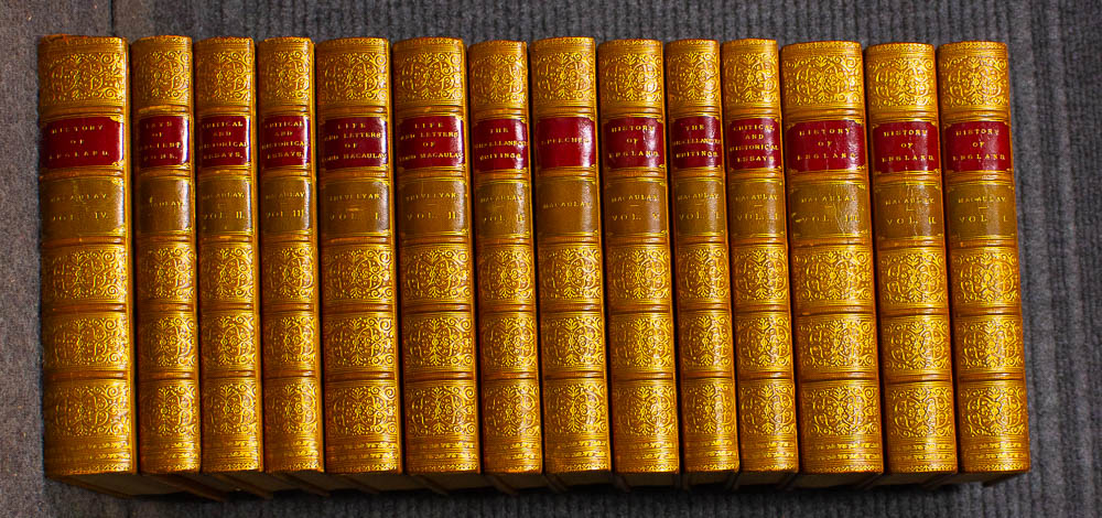 Image for Works Of Lord Macaulay. [ Fine Bindings] 14 Dazzling Volumes