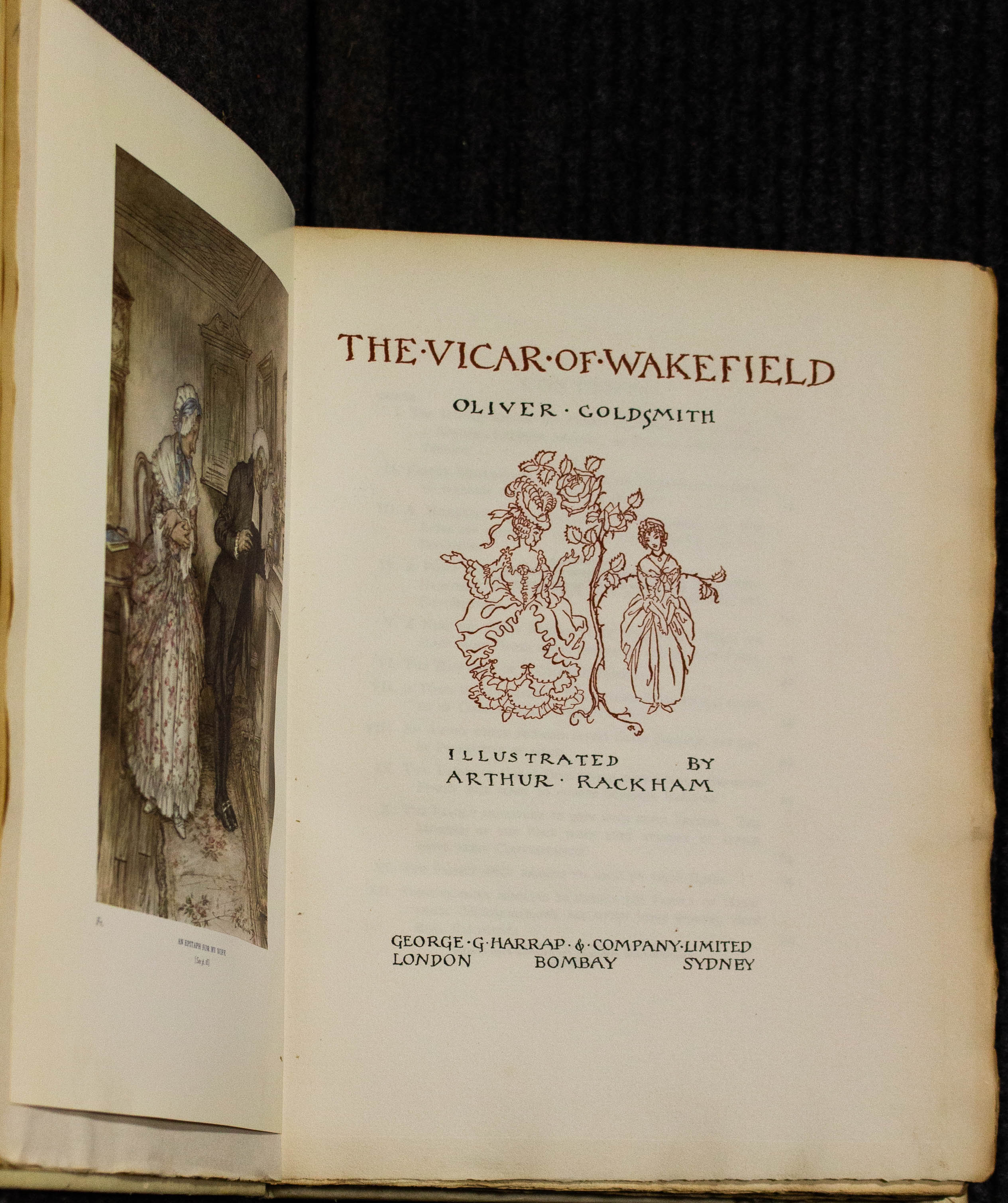 Image for Vicar Of Wakefield [signed By Rackham] #542 Of 750
