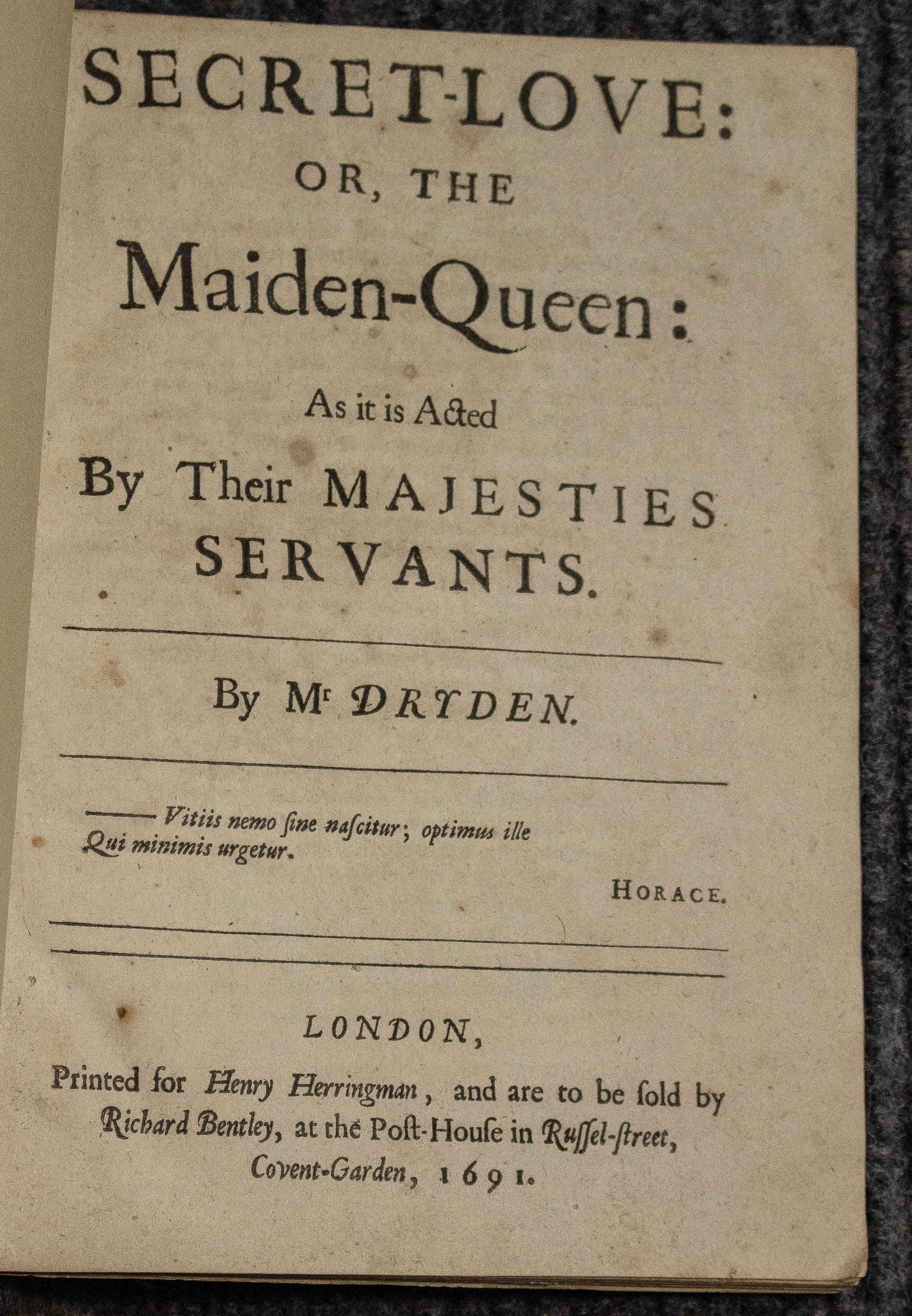 Image for Secret-love: Or, The Maiden-queen. 1691.
