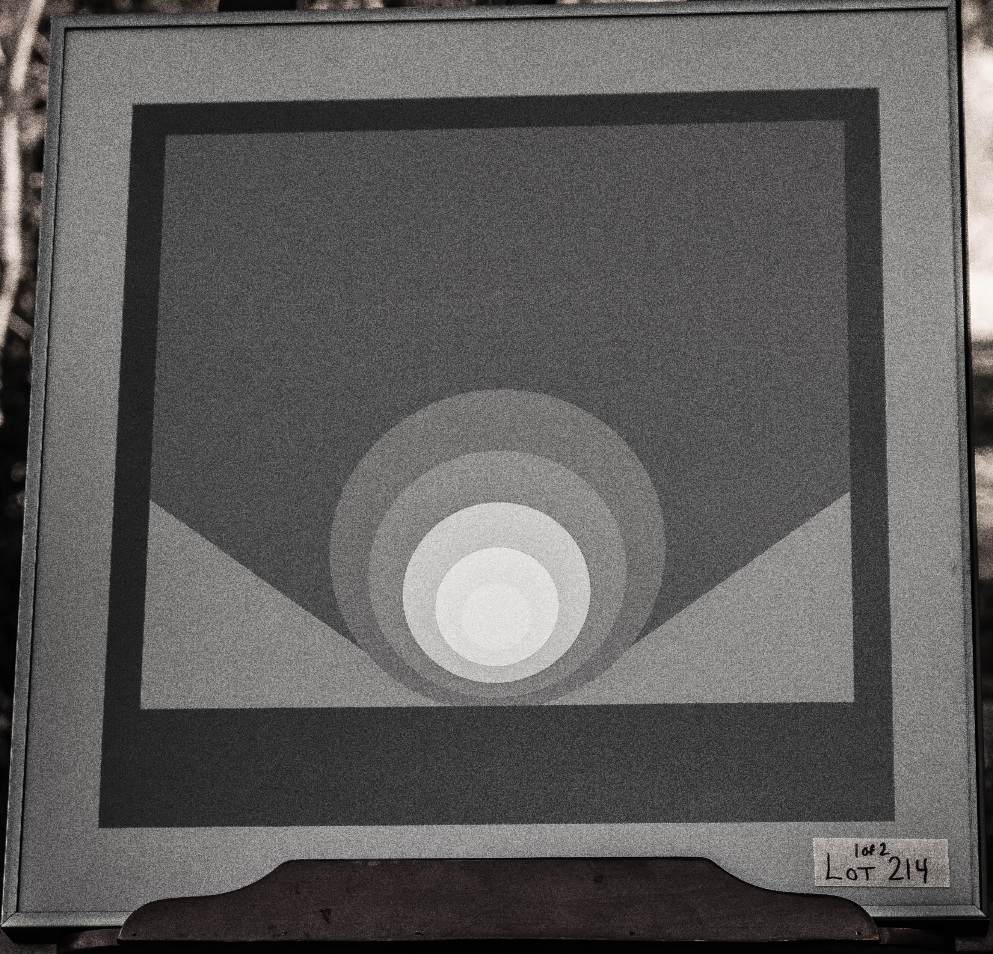 Image for Unknown Artist Geometrical Print In Black Frame 19 X 19""