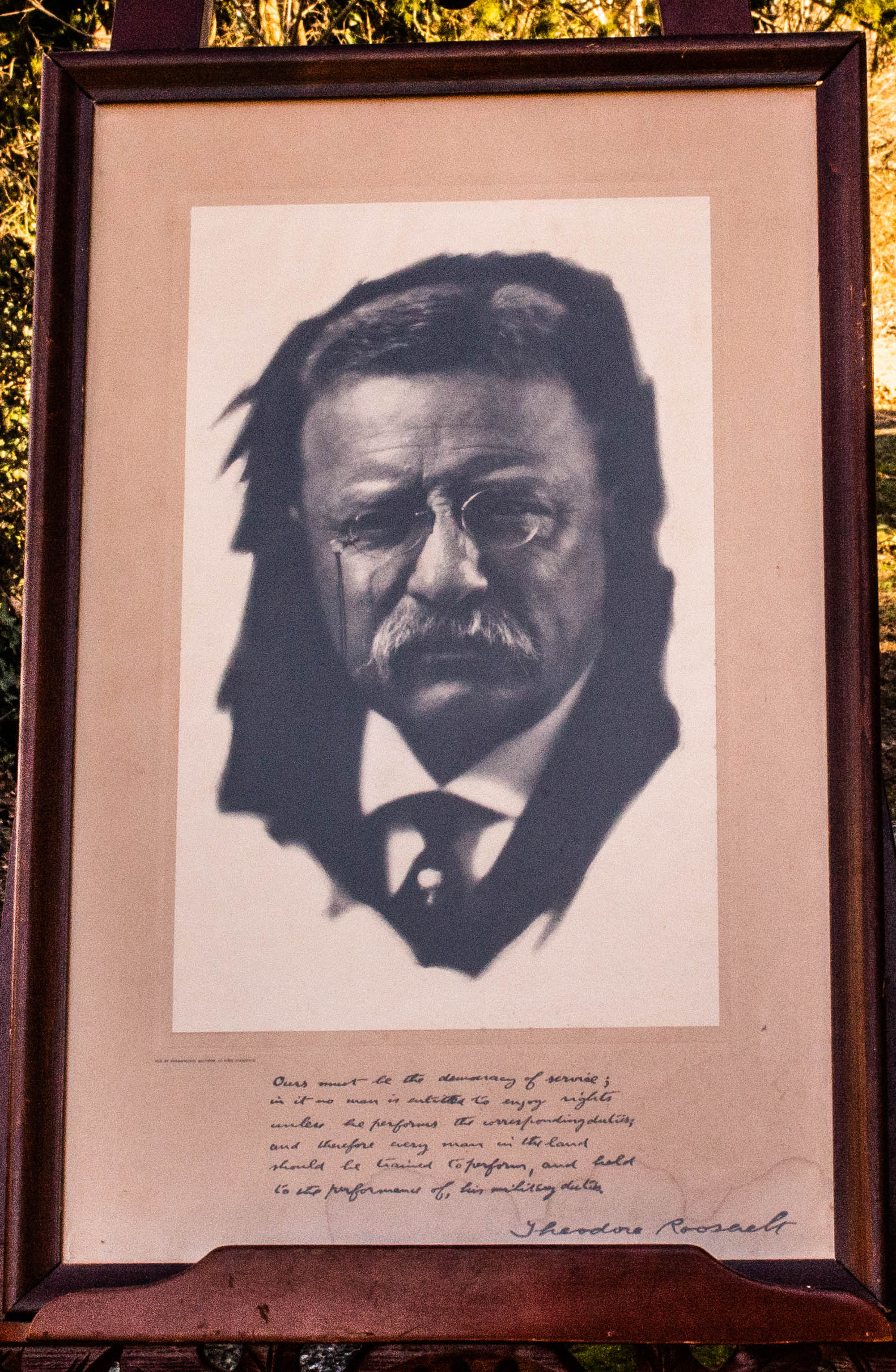 Image for Theodore Roosevelt Framed Picture1915 Signed With Lengthy Inscription Framed