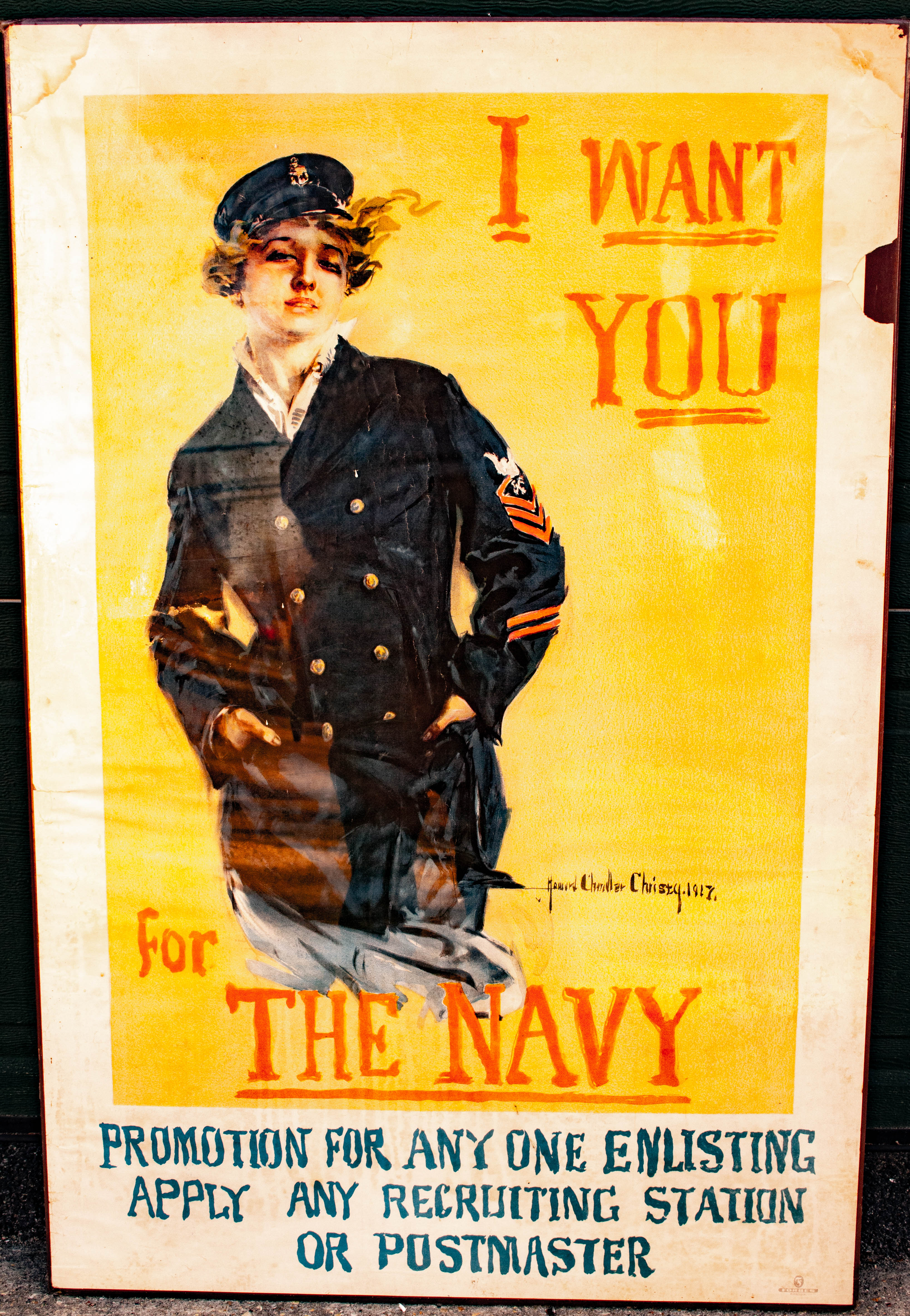 "Image for Authentic Original W W I Poster ""I Want You For The Navy"" 1917"